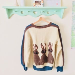 Berek hand knit bunny sweater 🐰